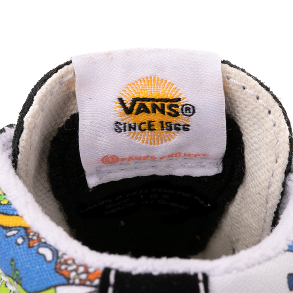 alternate view Vans x Parks Project Sk8 Mid Reissue V Wild And Free Skate Shoe - Baby / Toddler - Black / MulticolorALT4B