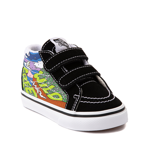 alternate view Vans x Parks Project Sk8 Mid Reissue V Wild And Free Skate Shoe - Baby / Toddler - Black / MulticolorALT5