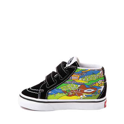 Alternate view of Vans X Parks Project Sk8 Mid Reissue V Wild And Free Skate Shoe - Baby / Toddler - Black / Multicolor