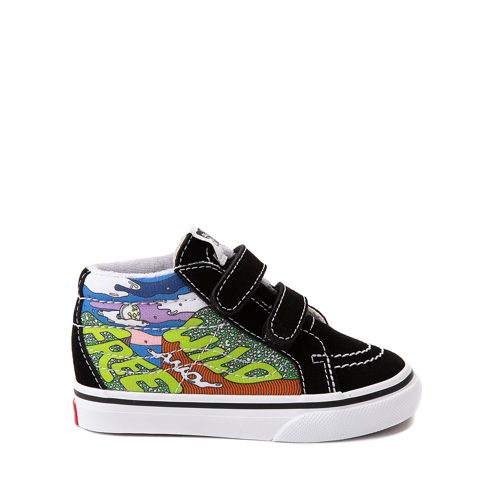 Vans x Parks Project Sk8 Mid Reissue V Wild And Free Skate Shoe - Baby / Toddler - Black / Multicolor