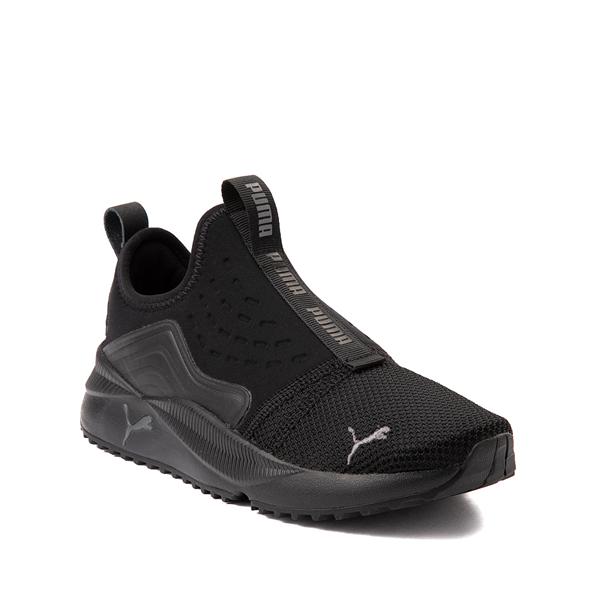 alternate view Puma Pacer Future Slip On Athletic Shoe - Big Kid - Black MonochromeALT5