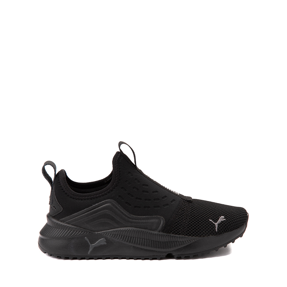Puma Pacer Future Slip On Athletic Shoe - Big Kid - Black Monochrome