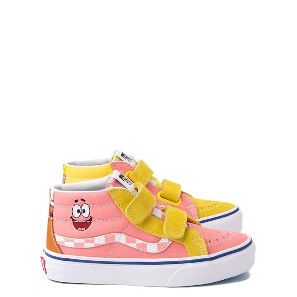 Main view of Vans x SpongeBob SquarePants™ Sk8 Mid Reissue V Best Friends Skate Shoe - Little Kid - Pink / Yellow