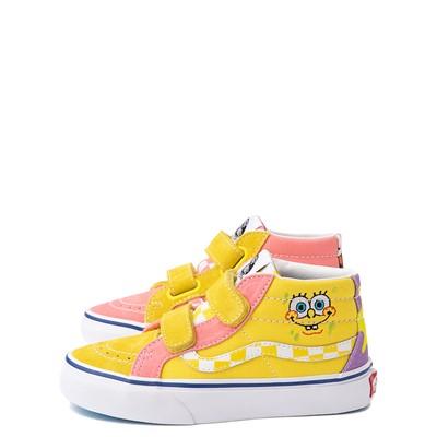 Alternate view of Vans x SpongeBob SquarePants™ Sk8 Mid Reissue V Best Friends Skate Shoe - Little Kid - Pink / Yellow