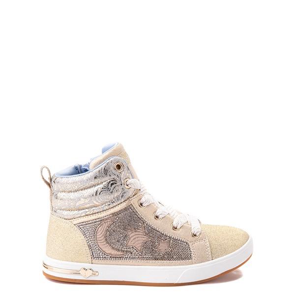 Main view of Skechers Shoutouts Starry Aligned Sneaker - Little Kid - Gold