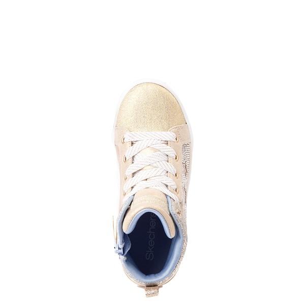 alternate view Skechers Shoutouts Starry Aligned Sneaker - Little Kid - GoldALT3