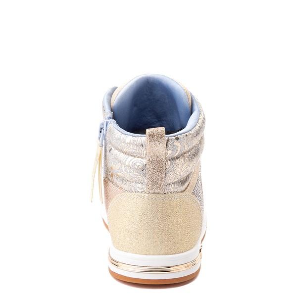 alternate view Skechers Shoutouts Starry Aligned Sneaker - Little Kid - GoldALT4