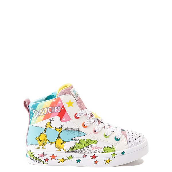 Main view of Skechers x Dr. Seuss Twi-Lites The Sneetches Sneaker - Little Kid - White / Rainbow