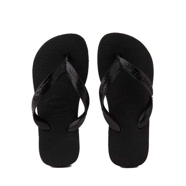 Main view of Havaianas Top Sandal - Toddler / Little Kid - Black