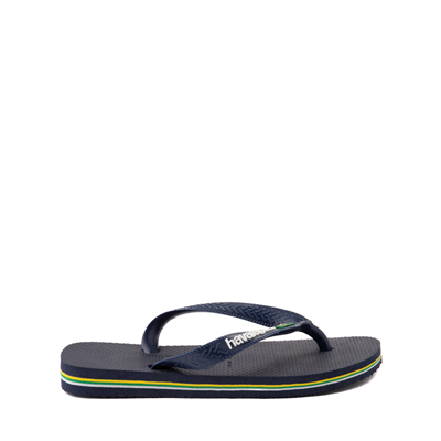 Alternate view of Havaianas Brazil Logo Sandal - Toddler / Little Kid - Navy
