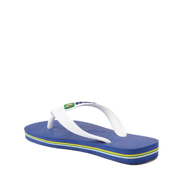 alternate view Havaianas Brazil Logo Sandal - Toddler / Little Kid - Marine BlueALT2