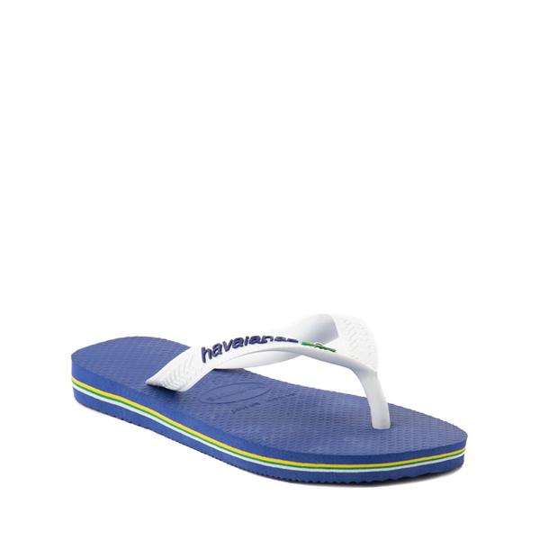 alternate view Havaianas Brazil Logo Sandal - Toddler / Little Kid - Marine BlueALT5