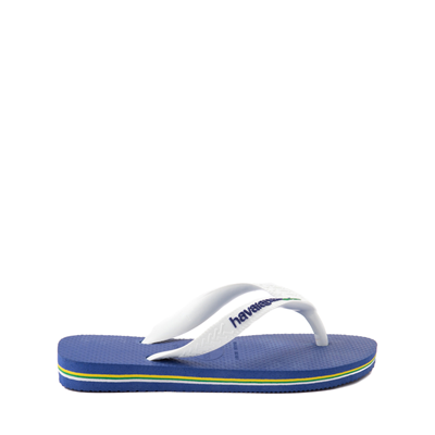 Alternate view of Havaianas Brazil Logo Sandal - Toddler / Little Kid - Marine Blue