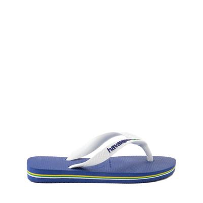 Alternate view of Havaianas Brazil Logo Sandal - Toddler / Little Kid - Marine Blue