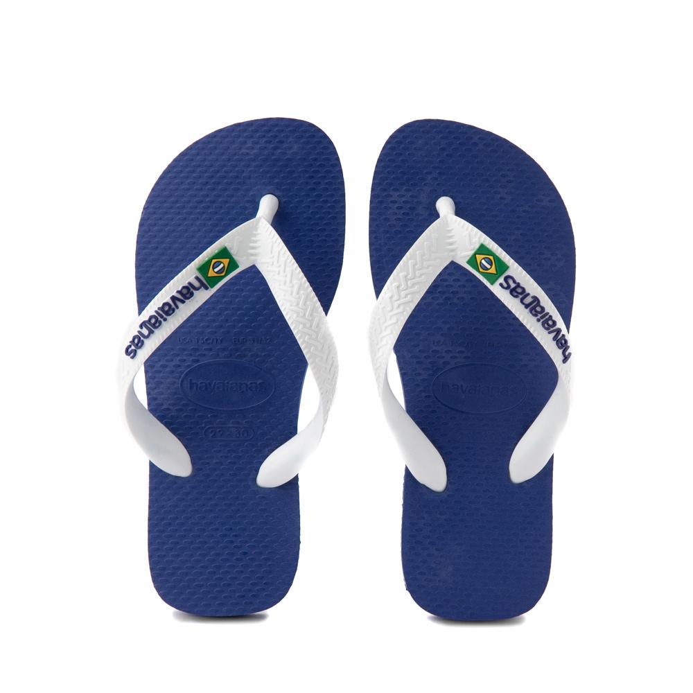 Havaianas Brazil Logo Sandal - Toddler / Little Kid - Marine Blue