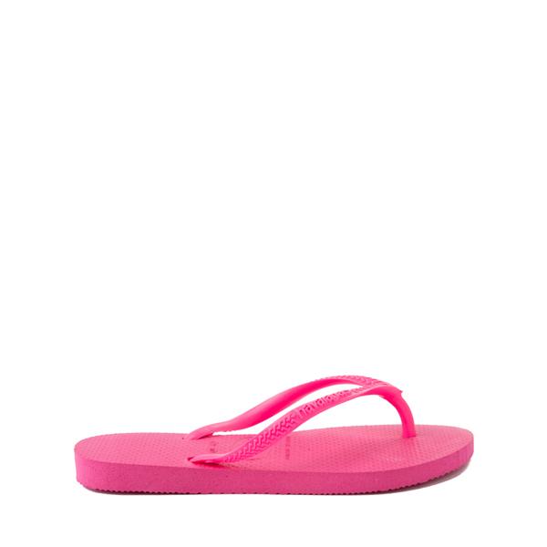 alternate view Havaianas Slim Sandal - Toddler / Little Kid - Pink FluxALT1