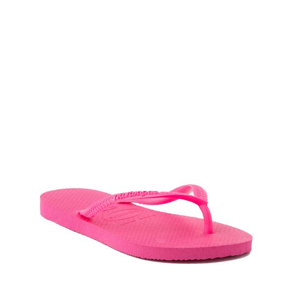 alternate view Havaianas Slim Sandal - Toddler / Little Kid - Pink FluxALT5