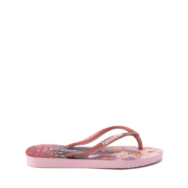 alternate view Havaianas Slim Frozen 2 Sandal - Toddler / Little Kid - Autumn RoseALT1