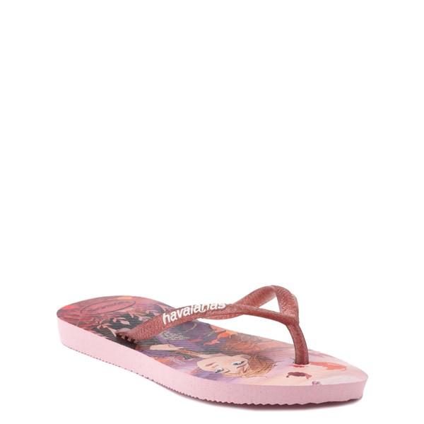 alternate view Havaianas Slim Frozen 2 Sandal - Toddler / Little Kid - Autumn RoseALT1B