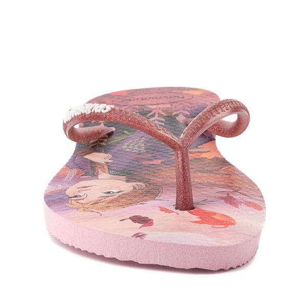 alternate view Havaianas Slim Frozen 2 Sandal - Toddler / Little Kid - Autumn RoseALT4