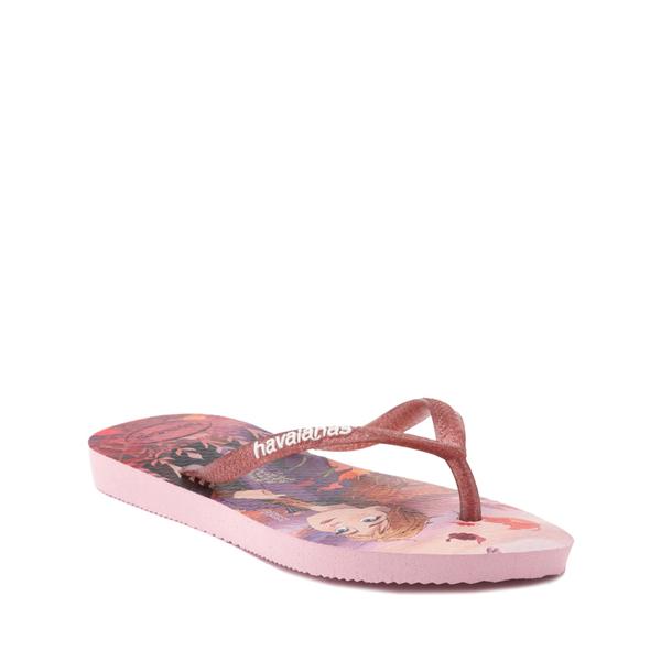 alternate view Havaianas Slim Frozen 2 Sandal - Toddler / Little Kid - Autumn RoseALT5