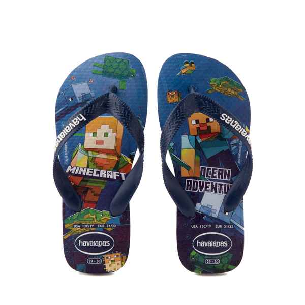 Havaianas Minecraft Sandal - Toddler / Little Kid - Blue