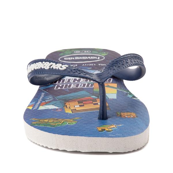 alternate view Havaianas Minecraft Sandal - Toddler / Little Kid - BlueALT4