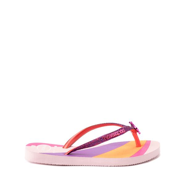 alternate view Havaianas Slim Glitter Sandal - Toddler / Little Kid - Candy PinkALT1