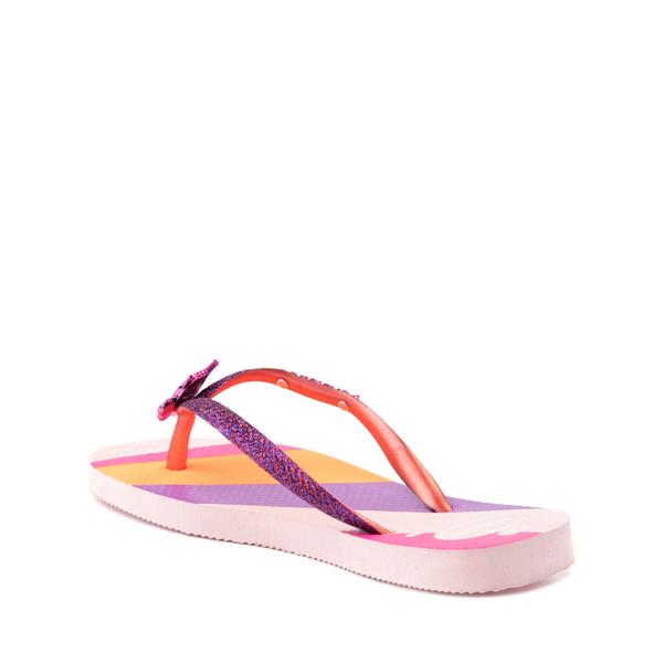 alternate view Havaianas Slim Glitter Sandal - Toddler / Little Kid - Candy PinkALT2