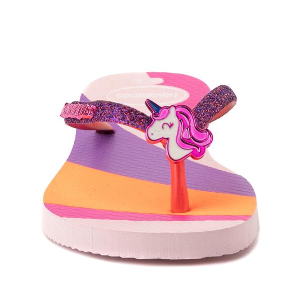 alternate view Havaianas Slim Glitter Sandal - Toddler / Little Kid - Candy PinkALT4