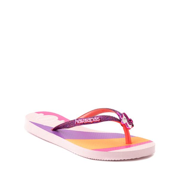 alternate view Havaianas Slim Glitter Sandal - Toddler / Little Kid - Candy PinkALT5