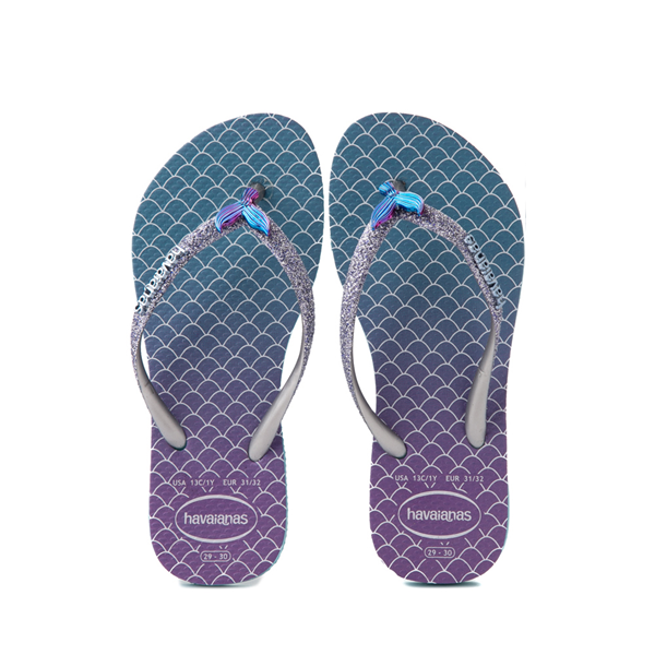 Havaianas Slim Mermaid Sandal - Toddler / Little Kid - Blue