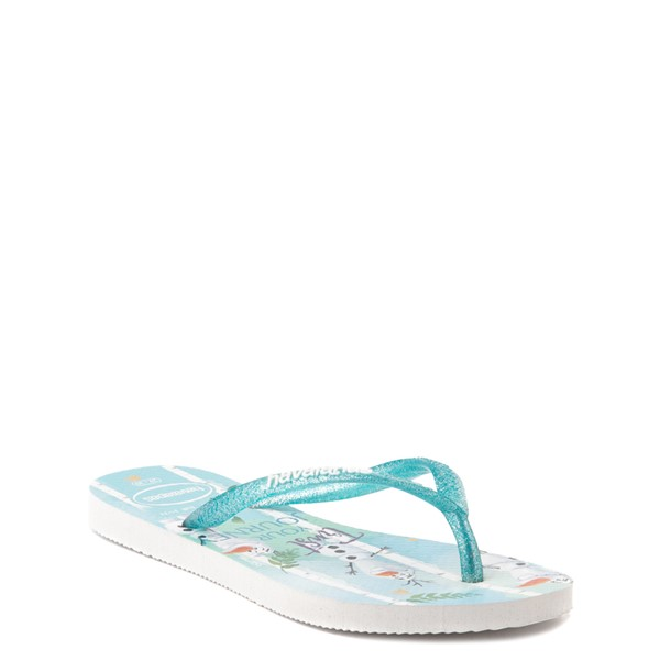 alternate view Havaianas Slim Frozen 2 Sandal - Toddler / Little Kid - Blue FrostALT1B
