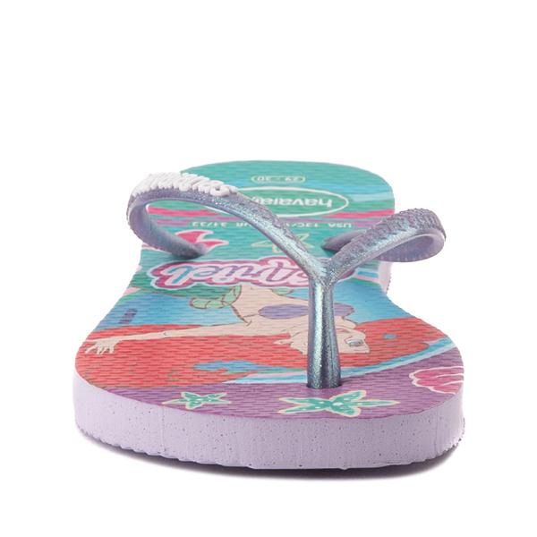 alternate view Havaianas Slim Princess Ariel Sandal - Toddler / Little Kid - Green CloverALT4
