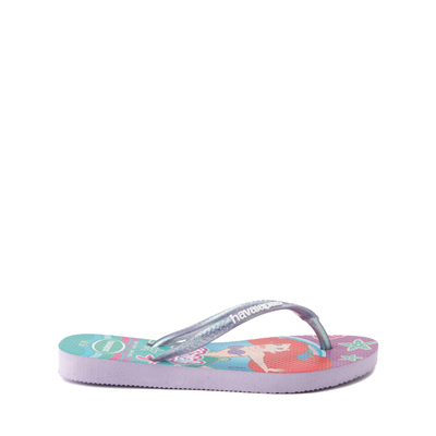 Alternate view of Havaianas Slim Princess Ariel Sandal - Toddler / Little Kid - Green Clover