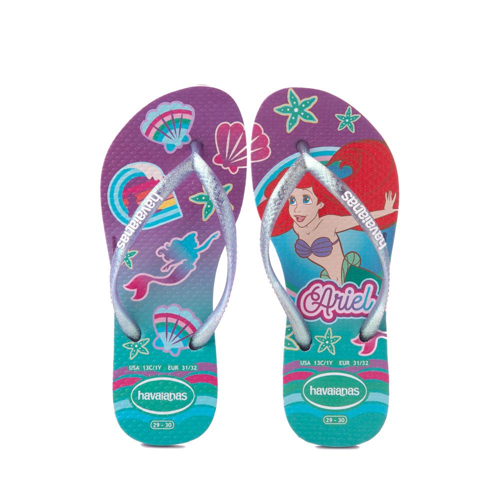 Havaianas Slim Princess Ariel Sandal - Toddler / Little Kid - Green Clover