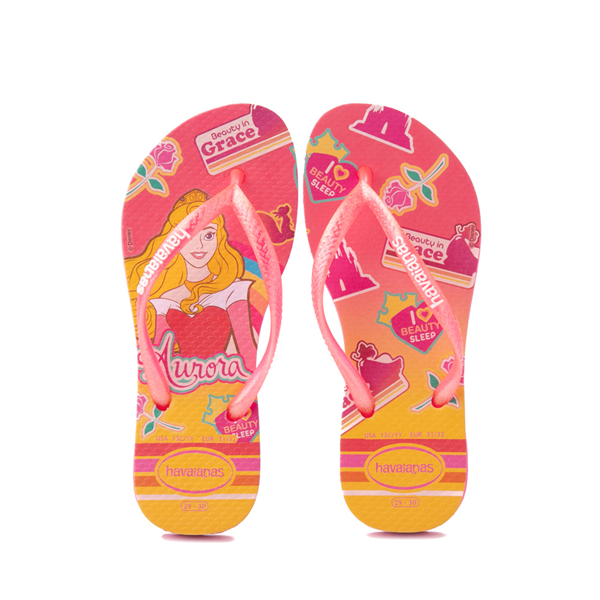 Main view of Havaianas Slim Princess Aurora Sandal - Toddler / Little Kid - Pink Flux