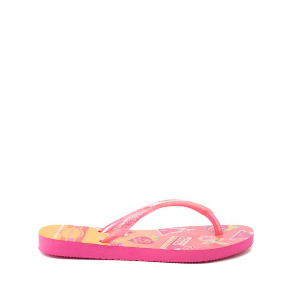 alternate view Havaianas Slim Princess Aurora Sandal - Toddler / Little Kid - Pink FluxALT1