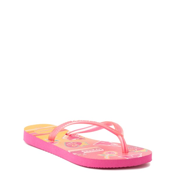 alternate view Havaianas Slim Princess Aurora Sandal - Toddler / Little Kid - Pink FluxALT1B