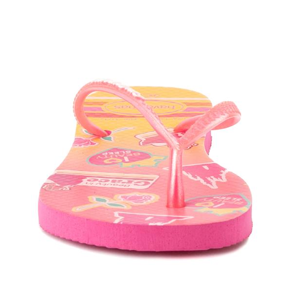 alternate view Havaianas Slim Princess Aurora Sandal - Toddler / Little Kid - Pink FluxALT4