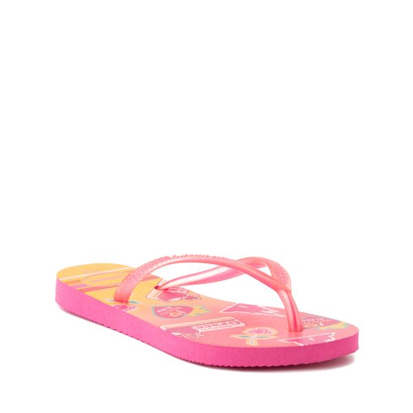 alternate view Havaianas Slim Princess Aurora Sandal - Toddler / Little Kid - Pink FluxALT5