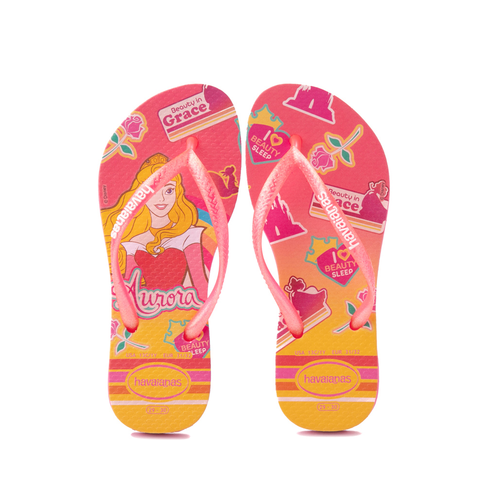 Havaianas Slim Princess Aurora Sandal - Toddler / Little Kid - Pink Flux
