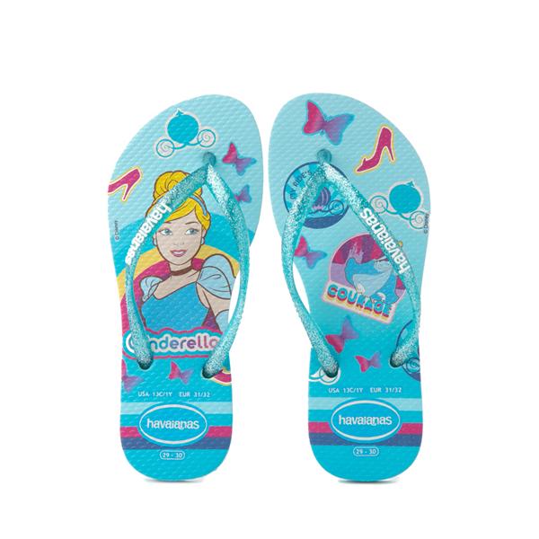Havaianas Slim Princess Cinderella Sandal - Toddler / Little Kid - Sky Blue