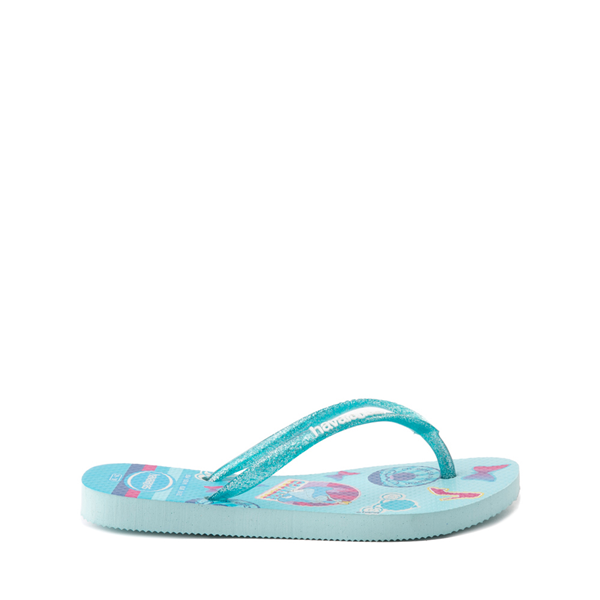 alternate view Havaianas Slim Princess Cinderella Sandal - Toddler / Little Kid - Sky BlueALT1