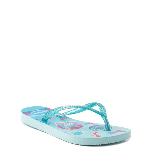 alternate view Havaianas Slim Princess Cinderella Sandal - Toddler / Little Kid - Sky BlueALT1B