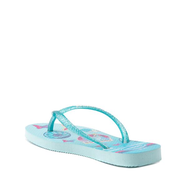 alternate view Havaianas Slim Princess Cinderella Sandal - Toddler / Little Kid - Sky BlueALT2