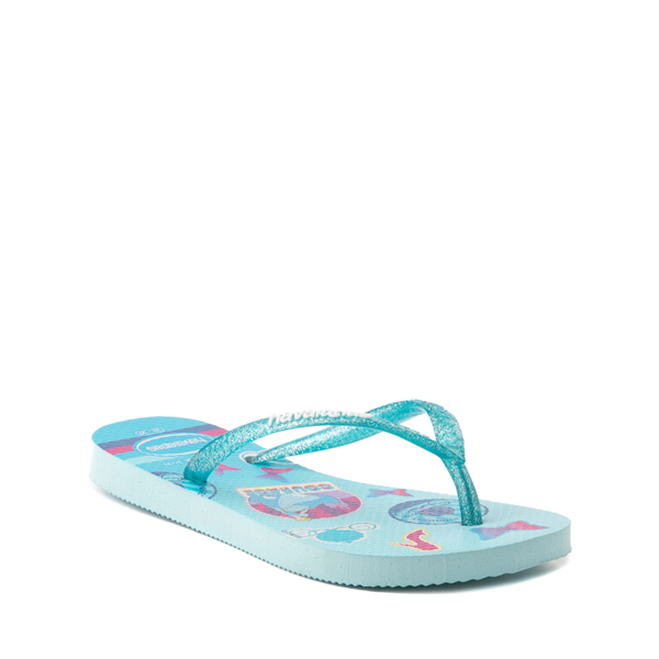alternate view Havaianas Slim Princess Cinderella Sandal - Toddler / Little Kid - Sky BlueALT5