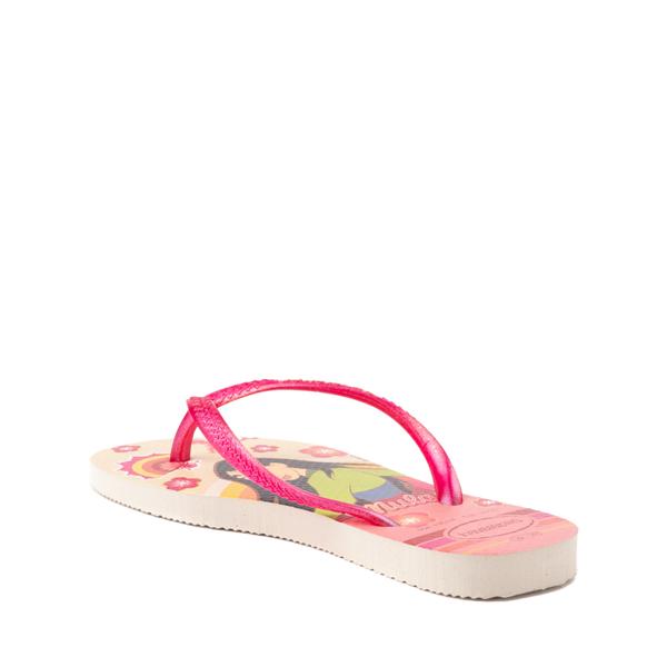 alternate view Havaianas Slim Princess Mulan Sandal - Toddler / Little Kid - Beige / RedALT2