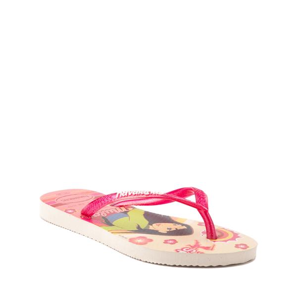 alternate view Havaianas Slim Princess Mulan Sandal - Toddler / Little Kid - Beige / RedALT5