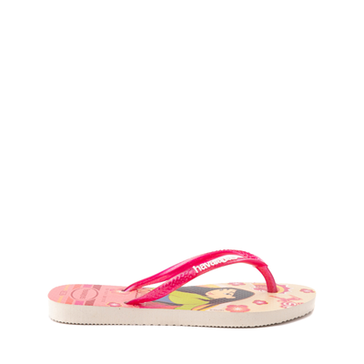 Alternate view of Havaianas Slim Princess Mulan Sandal - Toddler / Little Kid - Beige / Red